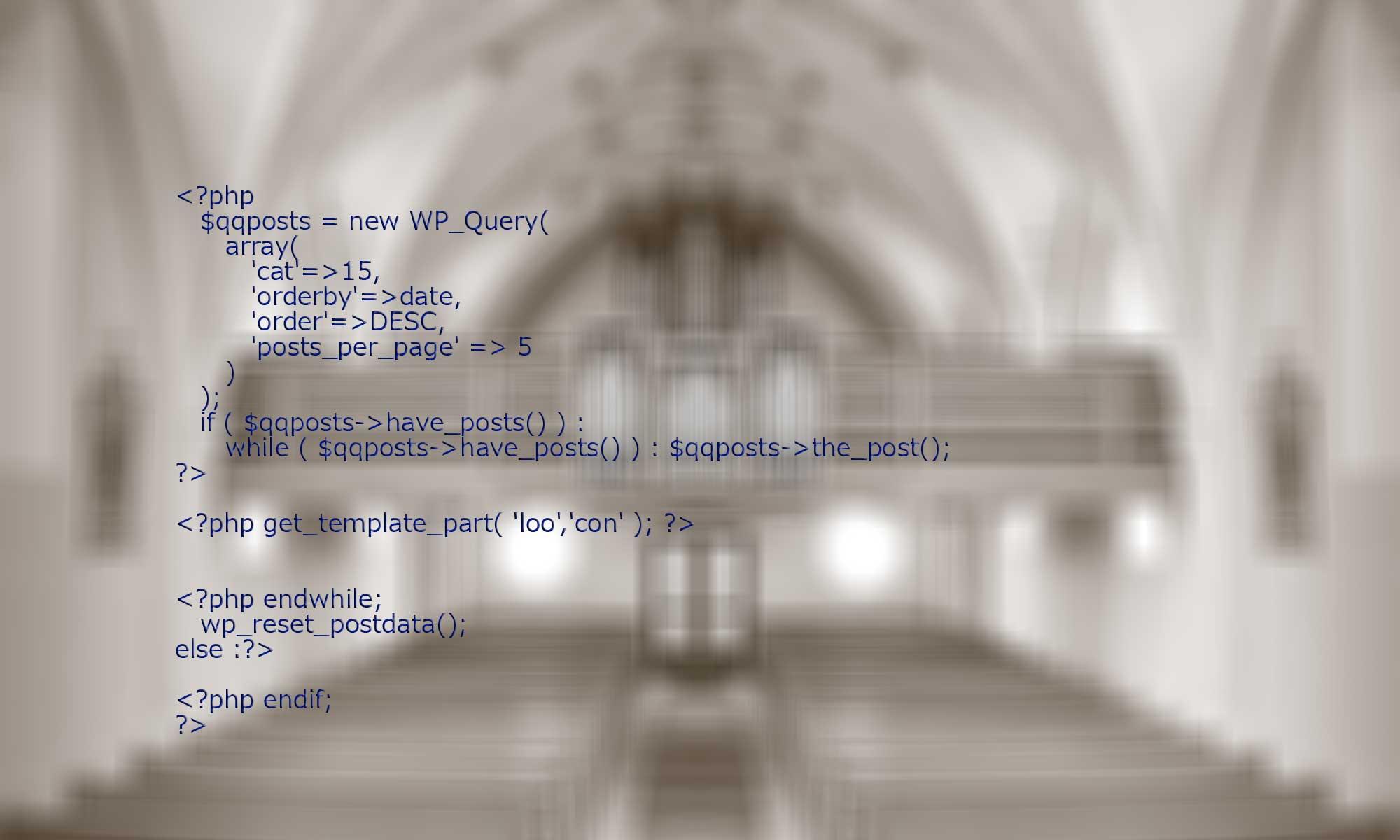 wp-queryをイメージした写真